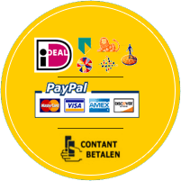 U kunt pinnen, contant betalen of online per iDeall/Paypal